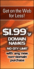 Click Here For $1.99/yr Domain Names Now!